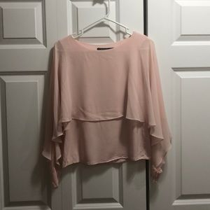 Beautiful light pink chiffon blouse